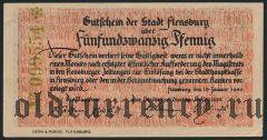Фленсбург (Flensburg), 25 пфеннингов 1920 года