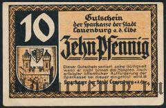 Лауэнбург (Lauenburg), 10 пфеннингов