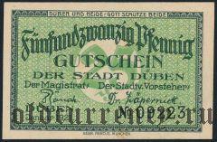 Дюбен (Düben), 25 пфеннингов 1921 года