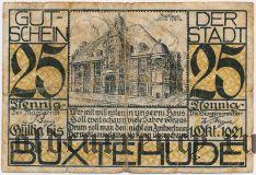 Букстехуде (Buxtehude), 25 пфеннингов 1921 года