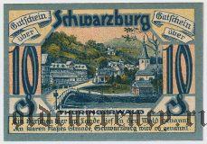 Шварцбург (Schwarzburg), 10 пфеннингов 1921 года