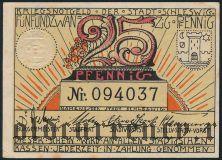 Шлезвиг (Schleswig), 25 пфеннингов (1921) года