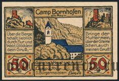 Камп-Борнхофен (Camp Bornhofen), 50 пфеннингов 1921 года