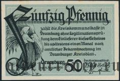 Драмбург (Dramburg), 50 пфеннингов 1920 года