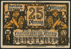 Гёттинген (Göttingen), 25 пфеннингов 1920 года