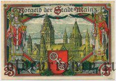 Майнц (Mainz), 25 пфеннингов 1921 года