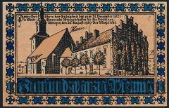 Врицен (Wriezen), 25 пфеннингов 1919 года