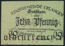 Эрланген (Erlangen), 10 пфеннингов 1918 года