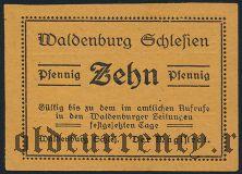 Вальденбург (Waldenburg), 10 пфеннингов 1921 года. Вар. 2