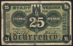 Верден (Verden), 25 пфеннингов 1919 года