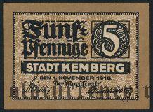 Кемберг (Kemberg), 5 пфеннингов 1918 года