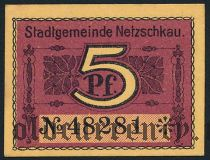 Нечкау (Netzschkau), 5 пфеннингов