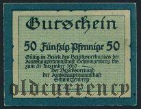 Шварценберг (Schwarzenberg), 50 пфеннингов 1919 года