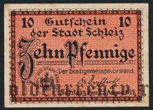 Шлайц (Schleiz), 10 пфеннингов 1919 года