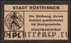 Рюстринген (Rüstringen), 1 пфеннинг (1917) года