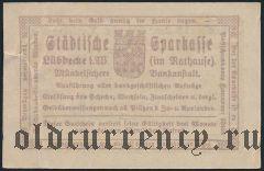Люббекке (Lübbecke), 1/2 марки 1920 года