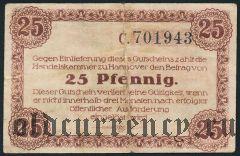 Ганновер (Hannover), 25 пфеннингов 1918 года