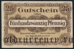 Ганновер (Hannover), 25 пфеннингов 1920 года