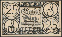 Диц (Diez), 25 пфеннингов 1920 года