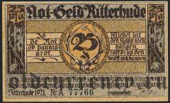 Риттерхуде (Ritterhude), 25 пфеннингов 1921 года