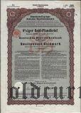 Deutschen Hypothekenbank, Meiningen, 8% iger Gold Pfandbrief, 2000 goldmark 1928.