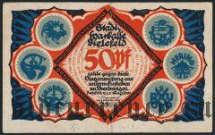 Билефельд (Bielefeld), 50 пфеннингов 1921 года. Вар. 3