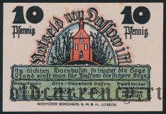 Дассов (Dassow), 10 пфеннингов 1922 года