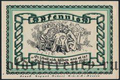 Штольценау (Stolzenau), 50 пфеннингов 1921 года. Вар. 1