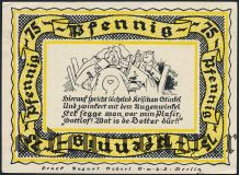 Штольценау (Stolzenau), 75 пфеннингов 1921 года. Вар. 2