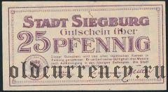 Зигбург (Siegburg), 25 пфеннингов 1921 года