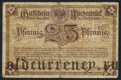 Виденбрюк (Wiedenbrück), 25 пфеннингов 1918 года. Вар. 1