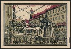 Ашерслебен (Aschersleben), 50 пфеннингов 1921 года. Вар. 1