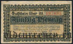 Хильдесхайм (Hildesheim), 50 пфеннингов 1918 года