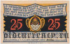 Цойленрода (Zeulenroda), 25 пфеннингов 1921 года