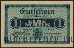Грайц (Greiz), 1 марка 1918 года