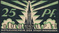 Вандсбек (Wandsbek), 25 пфеннингов 1921 года