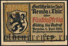 Ремда (Remda), 50 пфеннингов 1921 года