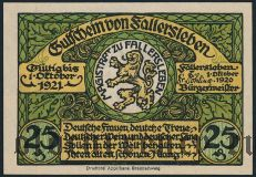 Фаллерслебен (Fallersleben), 25 пфеннингов 1920 года