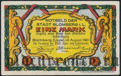 Бломберг (Blomberg), 1 марка 1921 года