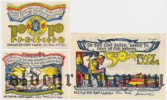 Лаге (Laage), 3 нотгельда 1922 года