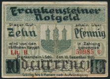 Франкенштайн (Frankenstein), 10 пфеннингов 1920 года
