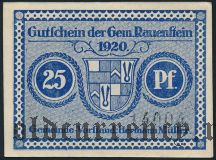 Рауэнштайн (Rauenstein), 25 пфеннингов 1920 года