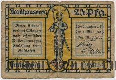 Нордхаузен (Nordhausen), 25 пфеннингов 1921 года