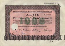 Elektrizitatswerk Schlesien Aktiengesellschaft, Breslau, 1000 reichsmark 1926.