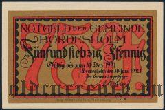 Бордесхольм (Bordesholm), 75 пфеннингов 1921 года. Вар. 1