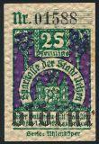 Ильцен (Uelzen), 25 пфеннингов 1922 года. Вар. 2