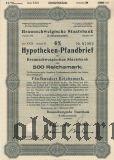 Braunschweigische Staatsbank, Braunschweig, 500 reichsmark 1940.