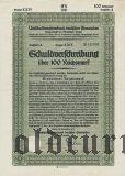 Umschuldungsverband deutscher Gemeinden, Berlin, 100 reichsmark 1933.