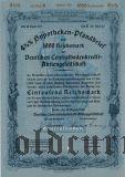 Deutschen Centralbodenkredit, Berlin, 4 1/2% Pfandbrief, 1000 reichsmark 1937.