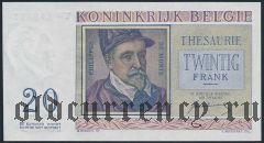 Бельгия, 20 франков 1950 года
